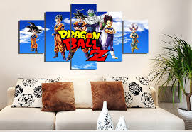 Dragon Ball Z Decorations 60 Pieces Cartoon Dragon Ball Z Modern Home Wall Decor Painting 16