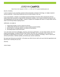 Best Software Specialist Cover Letter Examples Livecareer