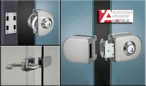 glass door locks häfele s