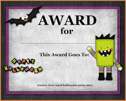 Military Certificate Templates 100 certificates for halloween fillin resume 97