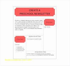Free Downloadable Newsletter Template Newsletter Template For Preschool Elegant Free Word Newsletter