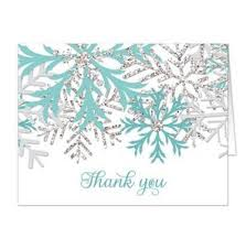 snowflake thank you cards winter teal silver snowflake thank you cards online at artistically
