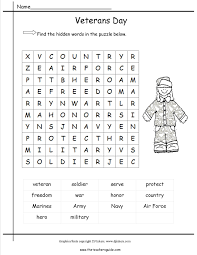Small Picture Veterans Day Word Search Coloring Pages Printable Images Kids Aim