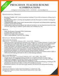 Preschool Teacher Certification Substitute Teacher Resume Example
