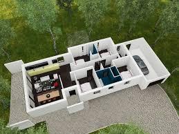 linea plan maison 3d interieur