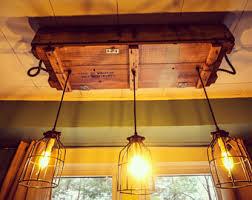 rustic dining room lighting. Reclaimed Wood Industrial Light Fixture (Rustic Lighting, Edison Bulbs, Dining Room Rustic Lighting T