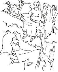 Jesus told zacchaeus he was going to stay at zacchaeus's what? Jesus And Zacchaeus Coloring Page Coloring Home