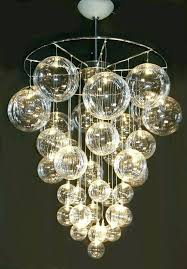bubble glass chandelier astounding light marvellous for contemporary property awesome fixture branching bu