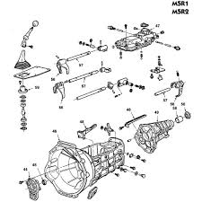 ford m5r1 and m5r2 manual transmission parts illustration Ford Standard Transmission Diagrams free ford m5r1 and m5r2 5 speed parts schematic Ford 5 Speed Transmission Diagram