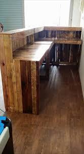 pallet furniture desk. pallet shop counter reception desk furniture diy
