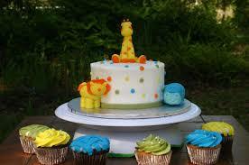 Baby Gone Wild Baby Shower Jungle Cake » Custom Baby Shower CakesBaby Shower Safari Cakes