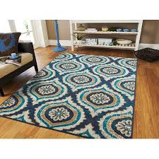 Navy Dining Room Rugs For Under The Table 5 By 7 Blue Gray Beige Area