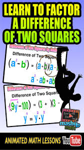 best awesome algebra resources images teaching check out our animated algebra lesson on factoring a difference of two squares dots