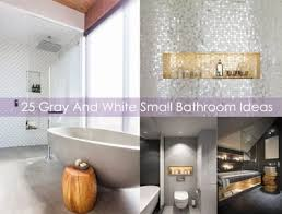 I thought i'd do a tour of our new bathroom after showing you the makeover/renovation process last week! 25 Gray And White Small Bathroom Ideas