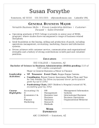 College Resume Template Resume Example For College Student On Good