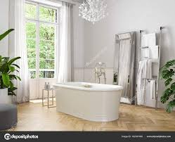 Klassische Luxus Badezimmer 3d Rendering Stockfoto 2mmedia