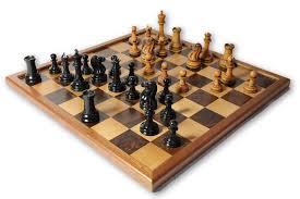 Chess Set   1849 J.J Edition Distressed Antique U0026 Ebony Chess Pieces