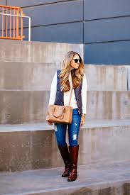 Quilted Vest & Riding Boots | The Teacher Diva: a Dallas Fashion ... & J Crew Puffer Vest. quilted vest Adamdwight.com