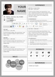 Tabular Cv Template Well Organized Table Formatted And Fully Editable Free