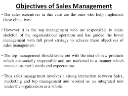 Sales Manager Resume Objective Unique Resume Samples