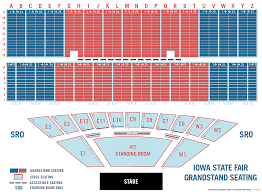 Clean Iowa State Grandstand Seating Chart Iowa State