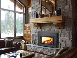 image of zero clearance fireplace living room