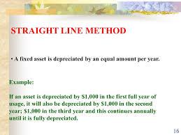 Straight Line Depreciation Equation Depreciation Ppt Video Online Download