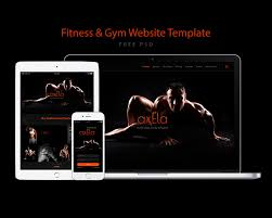 gym website design fitness and gym website template free psd download download psd