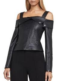 bcbg max azria bcbgmaxazria clyde knit faux leather jacket