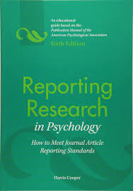 Reporting Research In Psychology How To Meet Journal Article