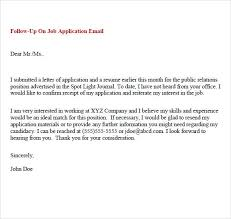 Follow Up Email Application Status Sample Full Photos Brilliant