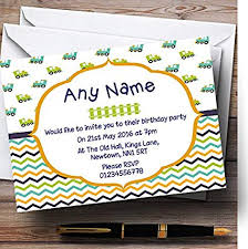 Personalised Birthday Invitations For Kids Childrenss Kids Party Invites Childrenss Kids Train And Chevrons