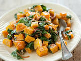 butternut squash w  wilted spinach and blue cheese