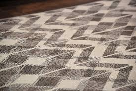 modern trendy gray white wavy zig zag pattern fringe area rug