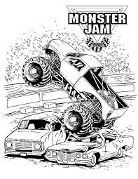 Small Picture Monster Jam Crushing Cars Coloring Pages Monster Jam Crushing