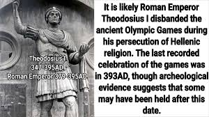「Roman emperor Theodosius I. banned olympic game」の画像検索結果