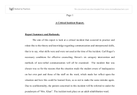 a critical incident report university subjects allied to document image preview