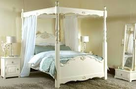Full Size Four Poster Bed 4 Post Canopy Pencil Post Bed With Canopy ...