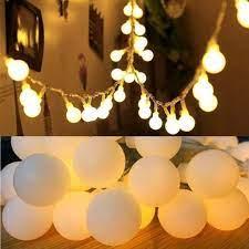 Giá bán (Chạy pin) Dây đèn led trang trí ngoài trời 6m 40 bóng đèn tròn