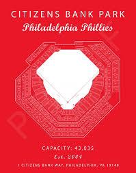 Citizens Bank Park Philadelphia Phillies Citizen Bank Seating Chart Gift For Phillies Fan Gift For Him Mlb Baseball Art Artwork