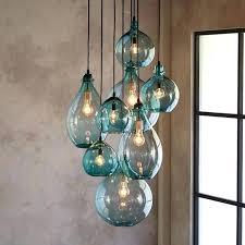 hand blown glass pendants salon glass pendant canopy limpid turquoise drops of hand blown glass envisioned hand blown glass pendants