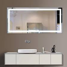 60 inch bathroom vanity mirror. decoraport 60 inch 28 horizontal led wall mounted lighted vanity bathroom silvered mirror with touch button (a-ck010-c) -