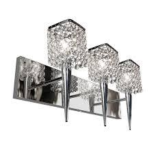 glam lighting. bazz glam sephora 3light 10in chrome square vanity light lighting