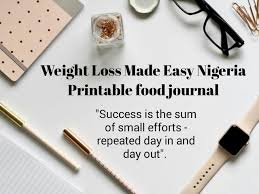 Weight Loss Recorder Food Journal Weight Loss Made Easy Nigeria