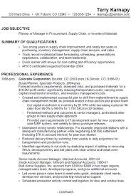 Resume Supply Chain Resume Objective
