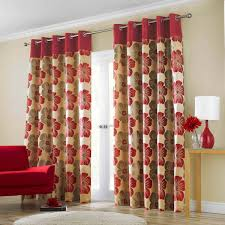 ... Drop Dead Gorgeous Accessories For Window Treatment Decoration Using  Modern Red Curtain : Charming Picture Of ...
