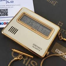 seiko quartz pocket lcd travel alarm clock 7412 003c 1979