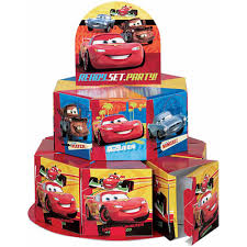 Cars Party Decorations Cars Favor Box Centerpiece Kit 1ct Walmartcom