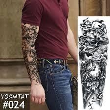 большие татуировки на руку крест роза Halo ангел водонепроницаемый временная