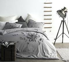 grey duvet cover twin xl petals oversized gray light